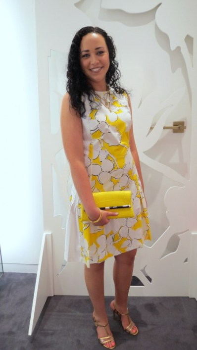 Love the Yellow DVF Clutch