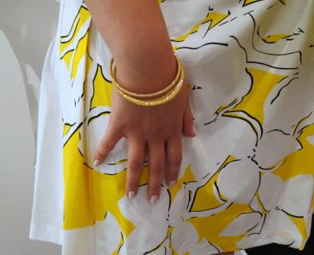 White + Yellow Summer Print