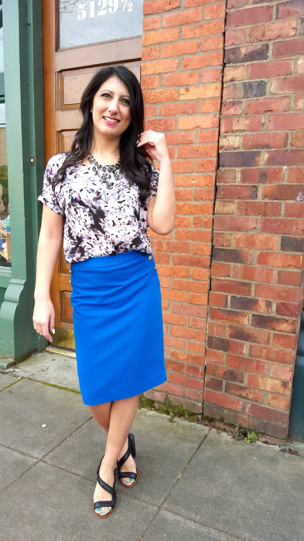 bright-print-top-blue-skirt