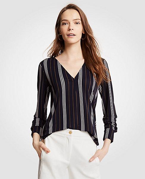 ann taylor stripe blouse
