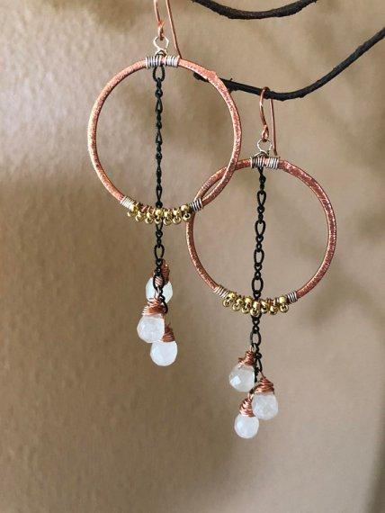 kd design metal earrings